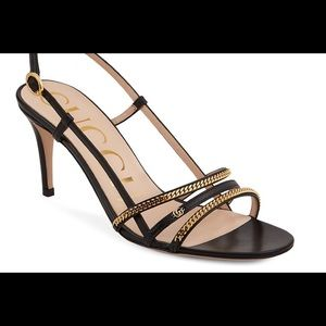 Gucci NWT Silvie Chain Heel Sandals Size 38. Please read description